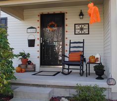 Small Front Porch Fall Ideas | Thank you Front Porch Ideas and More for the feature!