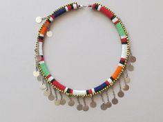Handmade Maasai Beaded Necklace  Choker by FTCscreendoorstudios, $60.00