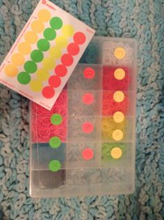 If you have Rainbow Loom this is a simple cheap way to decorate your box.All you need is the circle stickers sold at dollar tree(shown in picture) and you put them on your box and write somthing.I wrote Elena's Band Box but you can write whatever you want on it.Also this fun idea dosnt need to be used just for rainbow loom you can use it for different things too!Please pin or like this fun,creative,easy,and cheap way to label or decorate different items such as rainbow loom…