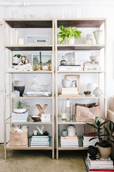 Styled bookcases