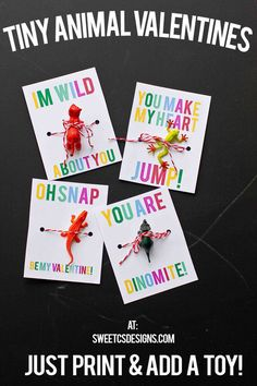 """I'm wild about you!"" Download all four free printables here."