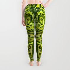 Green symbols Leggings by ludodesign   Society6   Fashion design by Ludovico Misino - Ludodesign. Diseño de estampado Ludovico Misino - Ludodesign