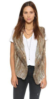 Joie Andoni Rabbit Fur Vest | SHOPBOP