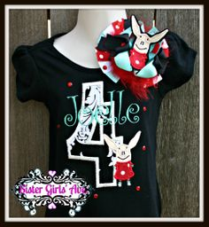 Miss O the Pig personalized birthday shirt and bow set. www.facebook.com/sistergirlsavenue