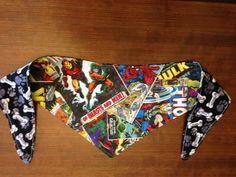 Tieon+Dog+Bandana+in+Marvel+Comic+Heroe+on+Dog+by+PawsClawsCorner,+$4.00
