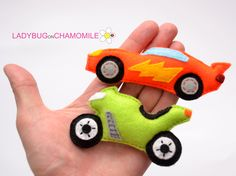 MOTORBIKE AND CAR FOR KIDS - FELT MAGNETS - FRIDGE MAGNETS