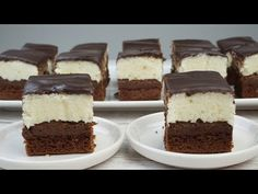 Si te gusta el chocolate y el coco este dulce te encantará👉🏻BROWNIE CON COCO / El Rincón de Belén - YouTube Brownies, Chocolates, Coco, Cheesecake, Sweets, Desserts, Videos, Youtube, Cake Recipes