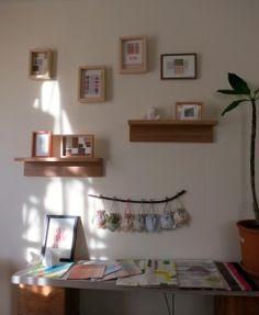 テキスタイルアーティスト 吉田美保子さんのタブロー Shelves, Home Decor, Shelving, Decoration Home, Room Decor, Shelving Units, Home Interior Design, Planks, Home Decoration