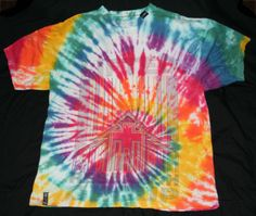 LRG ~ Somethings Wonderful Upcycles ~ Adult X-Large Tie-Dye T-Shirt - Psychedelic Spiral Design Lifted Research Group L-R-G