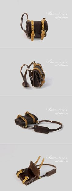 miniature minibag--Leather Backpack by Three-2one on DeviantArt