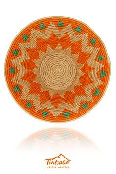 22cm Craft Basket by Tintsaba. Hand woven with sisal in Swaziland. www.Tintsaba.com