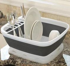 rv space saver - Looks like a lid underneath too like this dish rack a lot