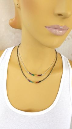 Check out this item in my Etsy shop https://www.etsy.com/ca/listing/245599947/seven-chakras-rainbow-necklace-reiki