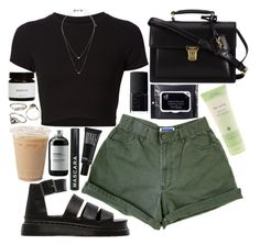 """thinking about it"" by velvet-ears ❤ liked on Polyvore featuring Getting Back To Square One, Dr. Martens, Topshop, Yves Saint Laurent, Aveda, NARS Cosmetics, Make and Sort of Coal"