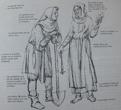 Esta es la ropa que usaban los campesinos en la Edad Media.