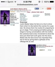 BELIEVE COMES OUT IN MARCH IM SCREAMING