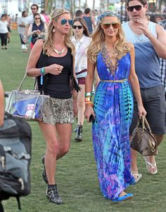 Nicky and Paris Hilton | Celebrities At Coachella, Week One