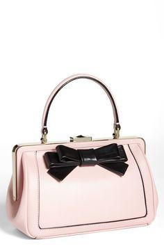 Blush bow bag