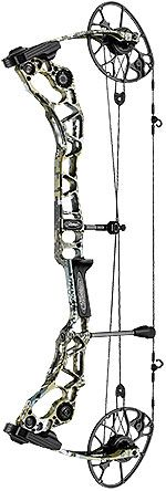 Mathews Halon 32-Checking in at 32 inches axle-to-axle, the bow comes in various draw weights (40, 50, 60 and 70 pounds), three different brace height and draw length configurations, and a number of camo and color options. With the CROSSCENTRIC Cam, Harmonic Damper, a true-center nocking point and enhanced string angle, this bow maintains shot-to-shot consistency