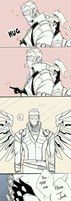 Soldier 76 (Jack) and Mercy (Angela)