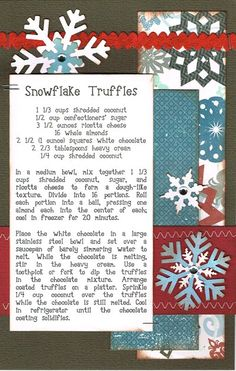 Paper Cottage: Recipe Kit of the Week - 12/12/2011