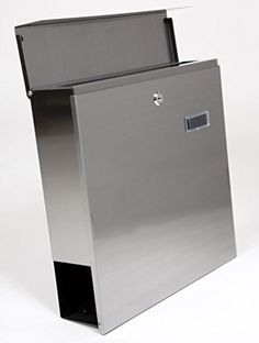 MPB933 The Vertical Lockable Mailboxes Brushed Stainless Steel With Newspaper Holder Modern Urban Style - QUALITY IS TOP, ANTI-RUST, STURDY AS REVIEWS FROM CLIENT, http://www.amazon.com/dp/B00G05RCQO/ref=cm_sw_r_pi_awdm_ig7exb1SXGCMK