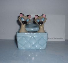 Disney Lady and The Tramp Siamese Cats SI Am Basket Le Salt Pepper Set | eBay