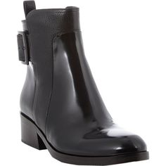 3.1 Phillip Lim Pacha Buckle-Strap Ankle Boots at Barneys.com
