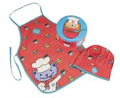 For all those little sous chefs out there.  This apron and chef's hat comes packaged in a cake tin and makes a lovely gift - available at www.isla-grace.co.uk