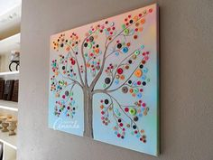 DIY crafts for home decor - Button Tree crafts work - Modern Interior and Decor Ideas.Step by step tutorial for this pretty colorful button tree.Would be a great way to display a vintage button collection. Diy Crafts For Home Decor, Tree Crafts, Crafts To Do, Arts And Crafts, Craft Ideas For The Home, Modern Crafts, Easy Crafts, Diy Wand, Diy Para A Casa