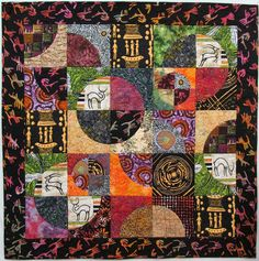 and African fabric quilts collage. African Quilts, African Textiles, African Fabric, Quilting Projects, Quilting Designs, Quilt Design, Gees Bend Quilts, Drunkards Path Quilt, Doll Quilt