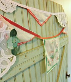 vintage hankie bunting - this is so Mary Jane's Farm!
