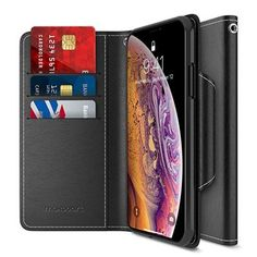 Maxboost Wallet Case Designed for Apple iPhone Xs MAX 2018 Phone [mWallet Folio Style] [Stand Feature] Protective PU Leather Flip Cover with Credit Card Slots+Side Cash Pocket+Magnetic Clasp Closure Best Iphone, Apple Iphone, Iphone 11, Iphone Wallet Case, Iphone Cases, Leather Wallet, Pu Leather, Card Storage, Cool Phone Cases