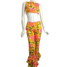 Fab.com   '60s Midriff & Ruffled Pants Set- just diff colored