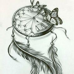 Feather Tattoo Design, Butterfly Tattoo Designs, Feather Tattoos, Lily Tattoo Sleeve, Cool Half Sleeve Tattoos, Feminine Tattoo Sleeves, Feminine Tattoos, Atrapasueños Tattoo, Body Art Tattoos