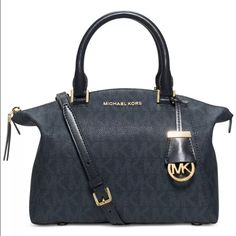 37dcc5b2d925 Spotted while shopping on Poshmark: Michael Kors Riley Signature Baltic Blue  Satchel! #poshmark