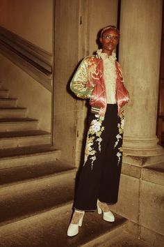 Backstage at the Gucci Cruise 2018 Fashion Show.