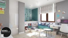 Młodzieżowy pokój dla żywiołowego nastolatka - Pokój dziecka, styl nowoczesny - zdjęcie od Monostudio Wnętrza