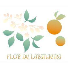 Estencil-para-Pintura-Simples-20X25-Flor-de-Laranjeira-OPA2059---Opa