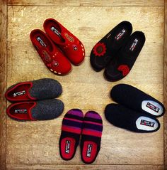 5 new #Haflinger styles you would #love! #pure #wool #felt #slippers #clogs #naturalmaterials #warm #cosy #home