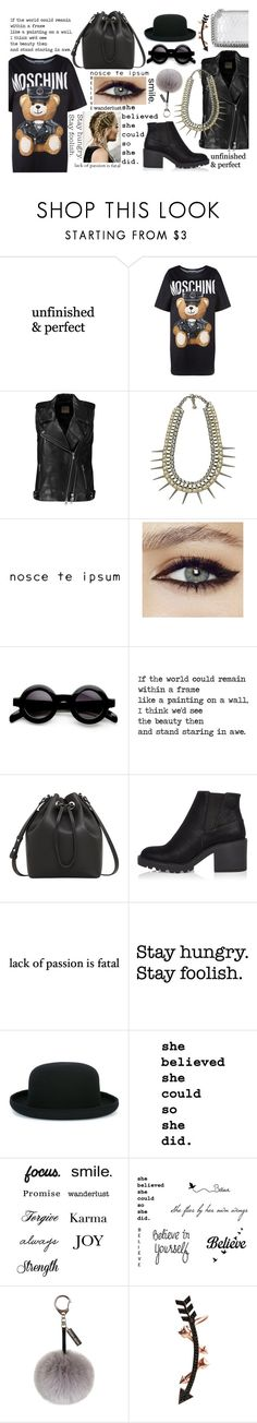 """""""Something More"""" by cool7677m ❤ liked on Polyvore featuring Moschino, Michelle Mason, Yochi, MANGO, River Island, Tattify, Comme des Garçons, Helen Moore, Wild Hearts and STELLA McCARTNEY"""