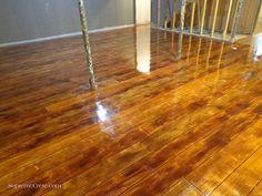 Wood Concrete Basement Floor