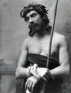 Bela Lugosi as Jesus from a 1909 Passion Play.