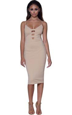 'Julia' Nude Ladder Bust Bodycon #Dress – Glamour Goddess Boutique https://glamourgoddessboutique.com/product/julia-nude-ladder-bust-bodycon-dress/