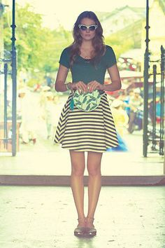 #Stripeswing #Skirt via #Anthropologie #anthrofave