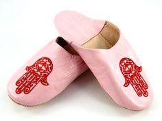 Jasnoróżowe marokańskie babusze Light pink Moroccan slippers http://www.etnobazar.pl/search/ca:babusze?limit=128
