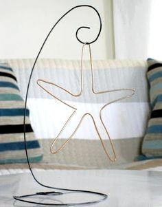 DIY wire crafts - starfish & wire stand