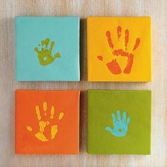 Handprints - great colors