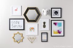 Round up your favorite prints and treasured photos - and prepare to DIY the gallery wall of your dreams!