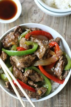 This easy Pepper Steak recipe is flavorful, gluten free, and paleo - delicious served with cauliflower fried rice.